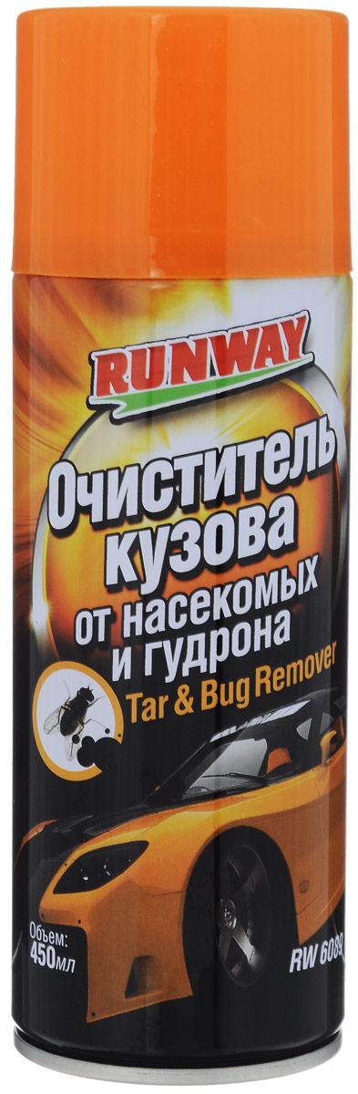 Очиститель кузова от насекомых и гудрона Runway, 450 мл очиститель кузова fill inn от битумных масляных пятен 335 мл