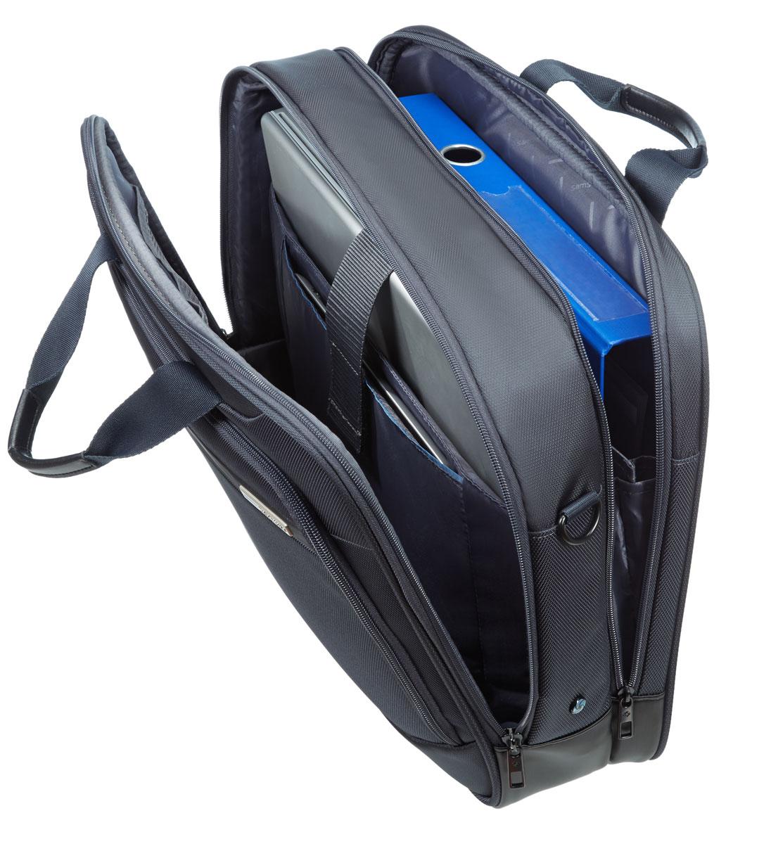 Сумка для ноутбука Samsonite GuardIt, цвет: темно-серый, 43,5 х 33 х 13,5 см сумка для ноутбука samsonite сумка для ноутбука 17 3 vectura 45 5x38 5x13 5 см