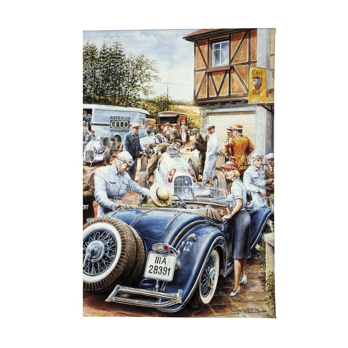 купить Обложка для автодокументов Ретро-гонка Арт. AUTO077 онлайн