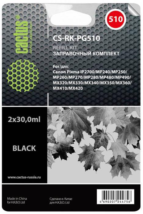 Cactus CS-RK-PG510, Black заправочный набор для Canon MP240/ MP250/MP260