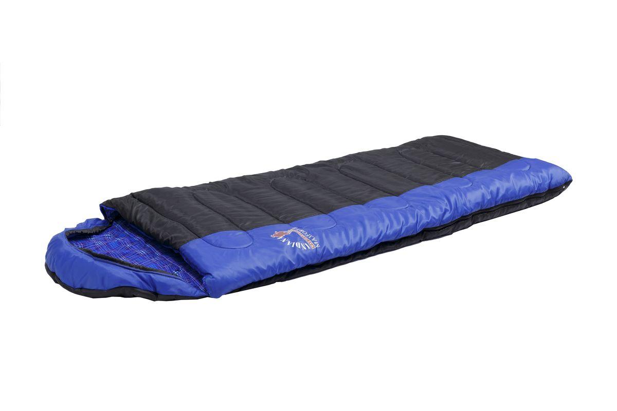 Спальный мешок Indiana Maxfort, правая молния, цвет: синий ,черный, 195 х 35 х 90 см