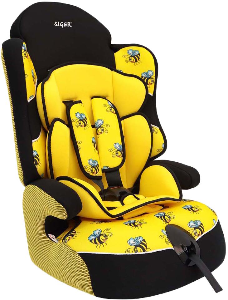 """Автокресло Siger Art """"Драйв. Пчелка"""" от 9 до 36 кг, KRES0233, желтый, черный"""