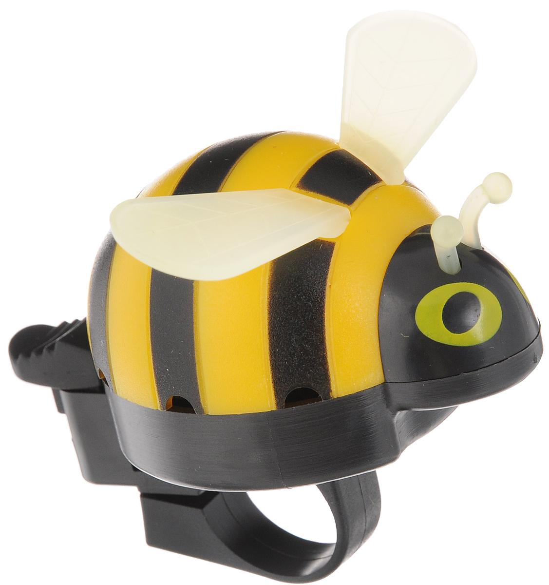 Звонок велосипедный Odinn Пчела, цвет: желтый, черный