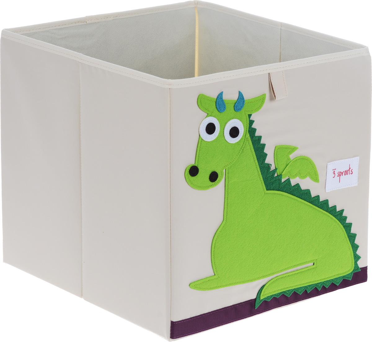 3 Sprouts Коробка для хранения Дракон67381Коробка для хранения 3 Sprouts Дракон - это отличный вариант организации пространства любой комнаты.Стороны коробки усилены с помощью картона, поэтому она всегда стоит ровно. Помещается практически во все стеллажи с квадратными отсеками и добавляет озорства любой комнате. Стоит ли коробка отдельно или на полке стеллажа, она обеспечит прекрасную организацию в вашем доме.Уход: снаружи - только выведение пятен.