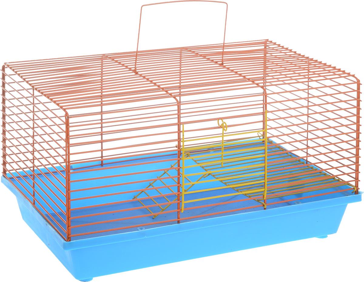 Клетка для хомяка ЗооМарк, 2-этажная, цвет в ассортименте, 36 х 23 х 20 см клетка для хомяка замок