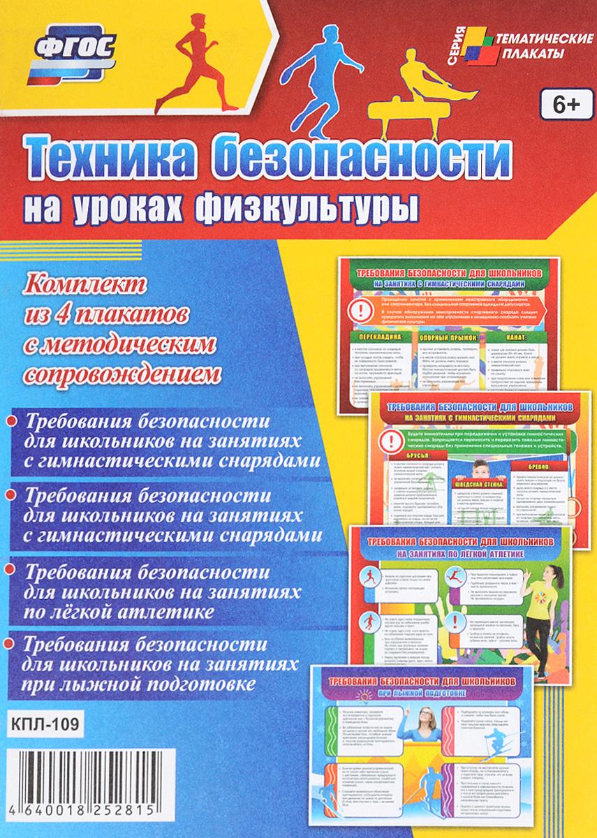 Техника безопасности на уроках физкультуры (комплект из 4 плакатов) техника безопасности на уроках труда девочки комплект из 4 плакатов