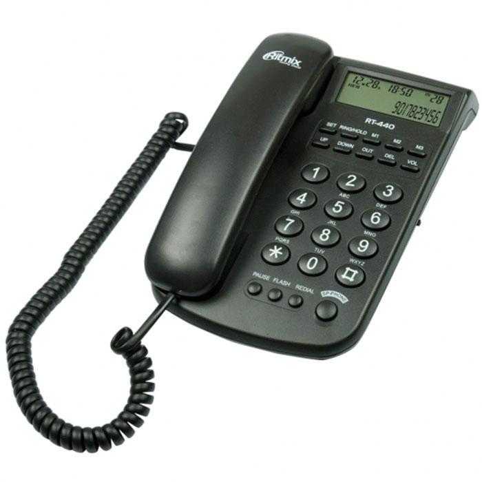 Ritmix RT-440, Black телефон