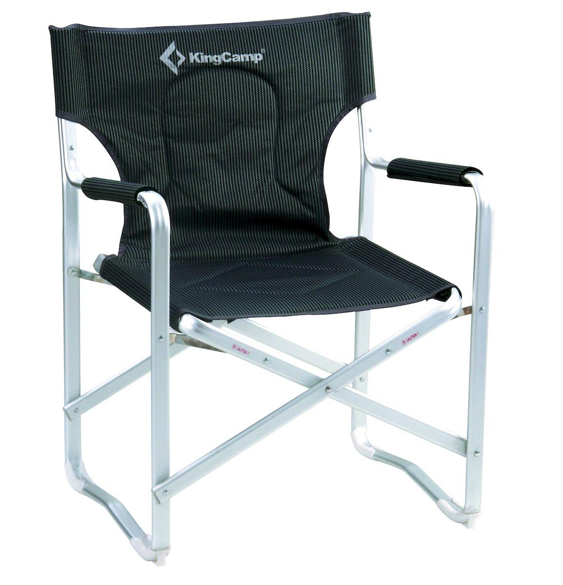 Кресло складное KingCamp DIRECTOR DELUX KC3811, цвет: черно-серый кресло складное kingcamp moon leisure chair цвет зеленый