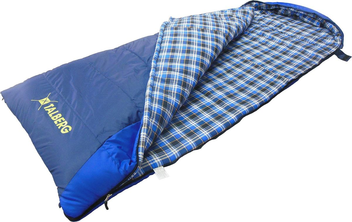 """Мешок спальный Talberg """"BUSSEN -22С"""", правая молния, цвет: синий"""