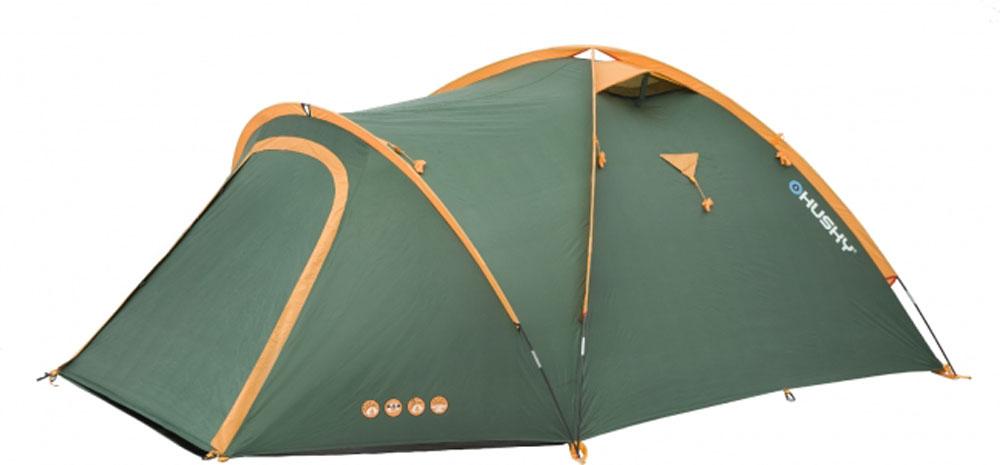 """Палатка туристическая Husky """"Bizon 3 Classic"""", цвет: зеленый"""