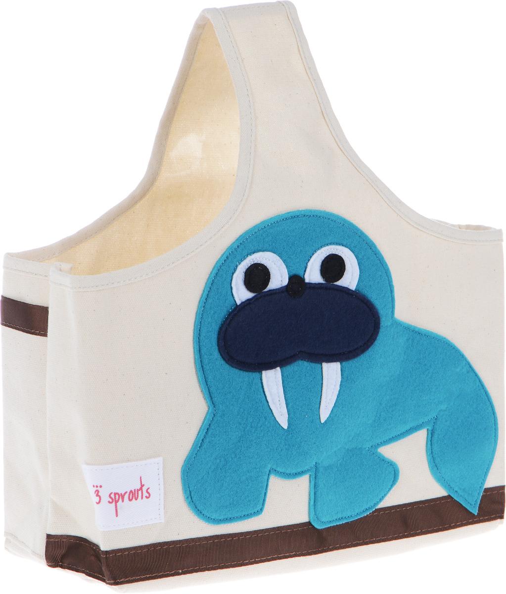 3 Sprouts Сумка для хранения вещей Морж 3 sprouts детское полотенце с капюшоном морж blue walrus 28649