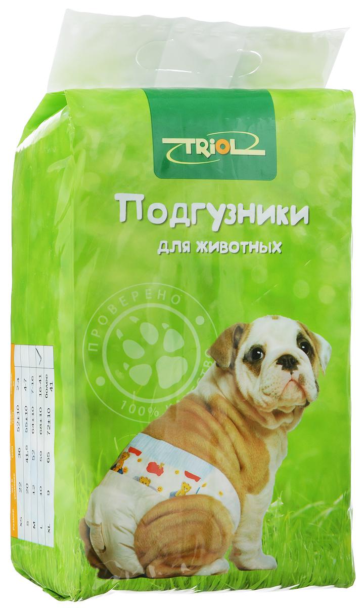 """Подгузники для домашних животных """"Triol"""", 15-22 кг, 10 шт. Размер L"""