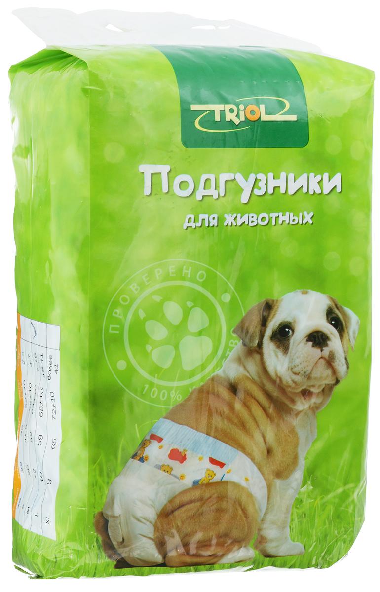 """Подгузники для домашних животных """"Triol"""", 7-16 кг, 12 шт. Размер M"""