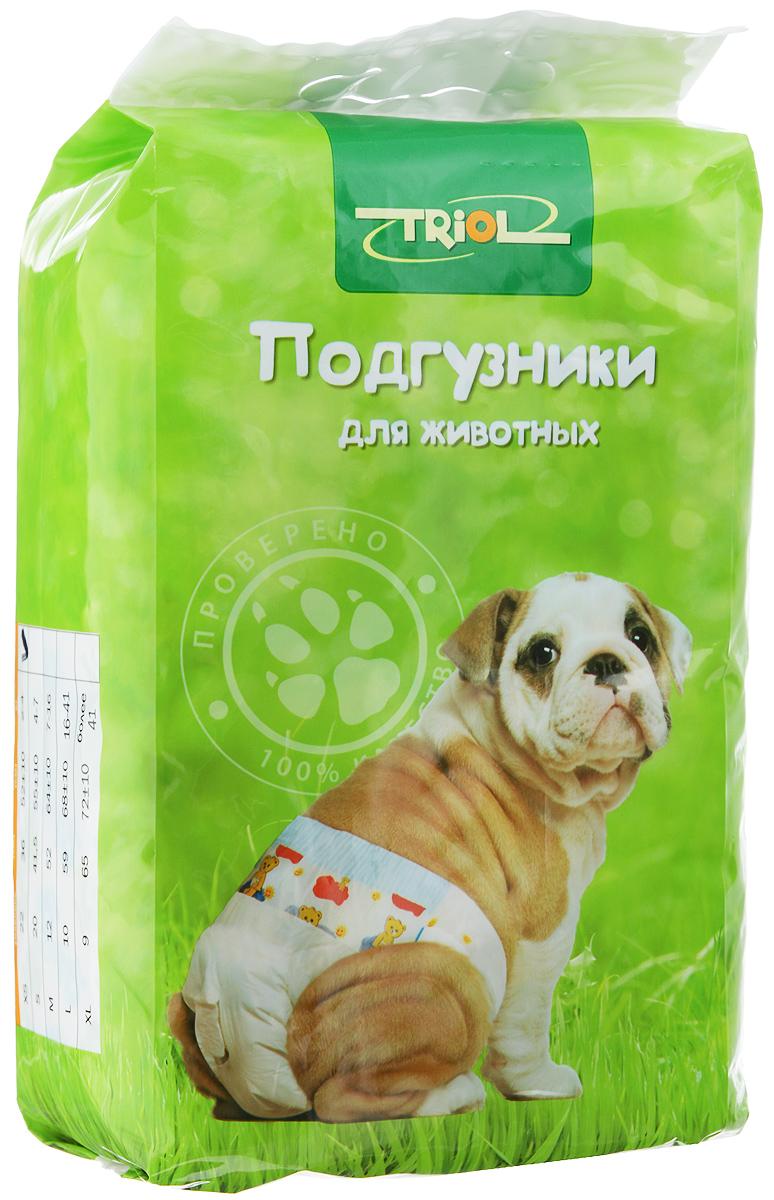 """Подгузники для домашних животных """"Triol"""", 2-4 кг, 22 шт. Размер XS"""