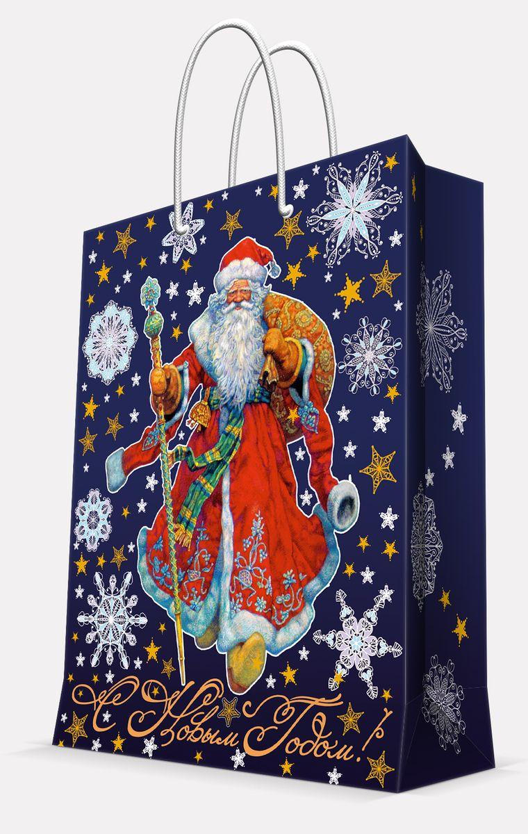 Пакет подарочный Magic Time Дед Мороз в красном кафтане, 17,8 х 22,9 х 9,8 см пакет подарочный magic time дед мороз и дети 26 х 32 4 х 12 7 см