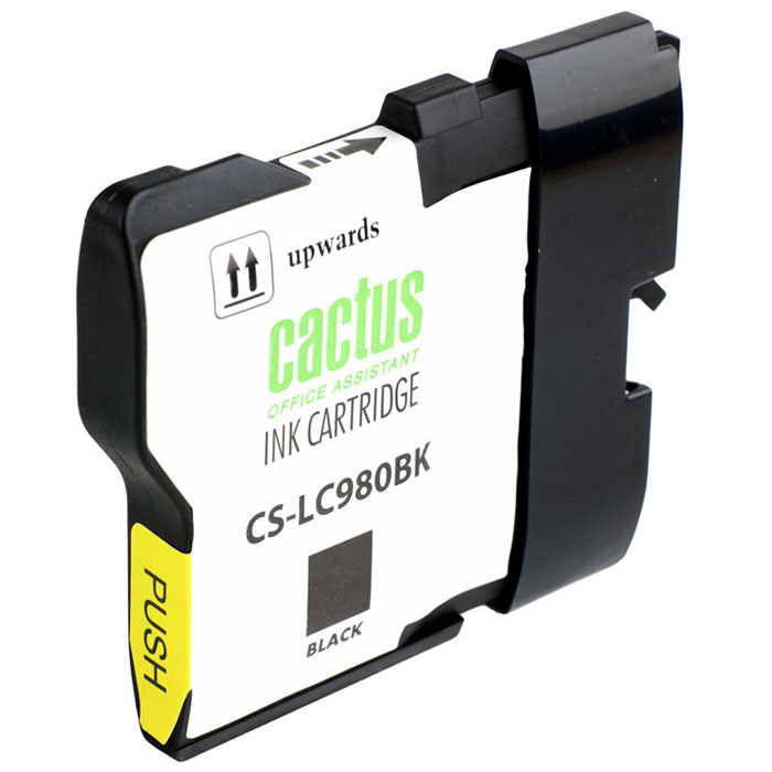 Картридж Cactus CS-LC980BK, черный, для струйного принтера brother lc980bk