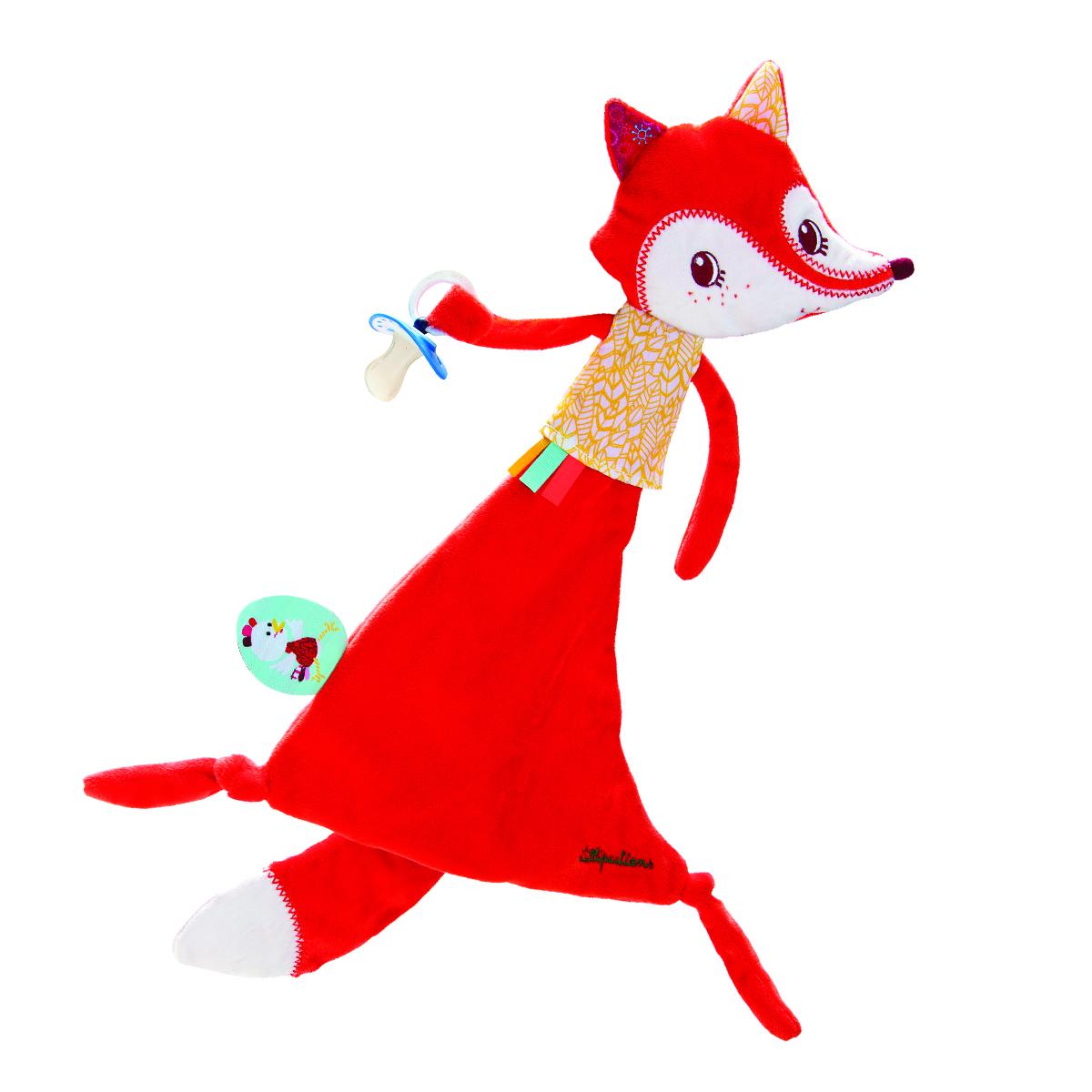 Lilliputiens Игрушка-обнимашка Лиса Алиса с держателем для пустышки божья коровка лиза игрушка обнимашка в коробке lilliputiens