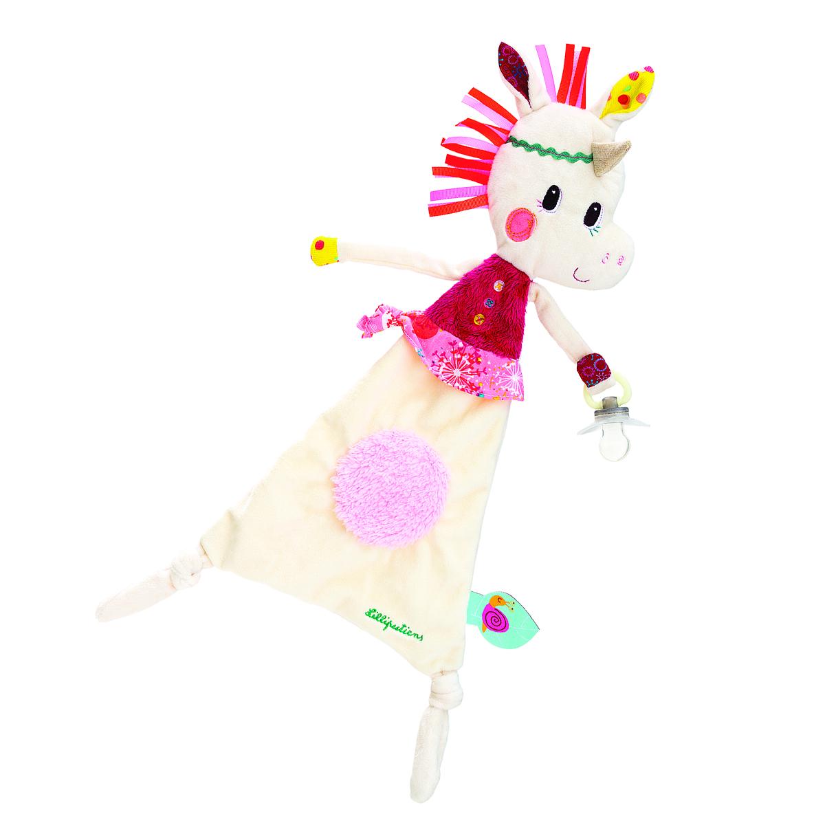 Lilliputiens Игрушка-обнимашка Единорожка Луиза с держателем для пустышки