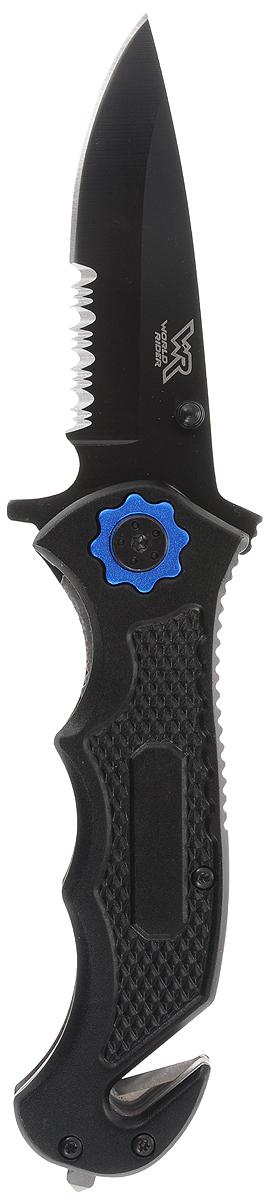 """Нож туристический """"World Rider"""", цвет: черный, синий. WR 5012"""