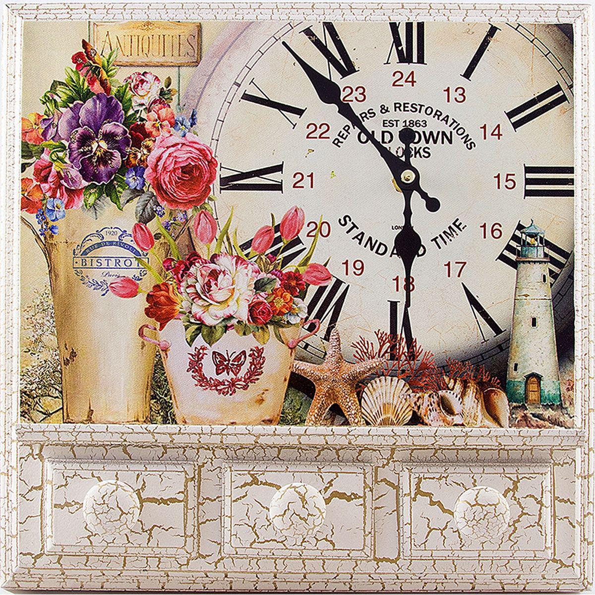 Для, открытка с настенными часами