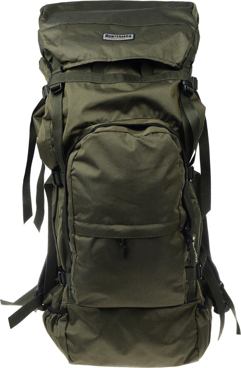 Рюкзак для охоты и рыбалки Nova Tour Медведь 120 V3, цвет: зеленый, черный, 120 л