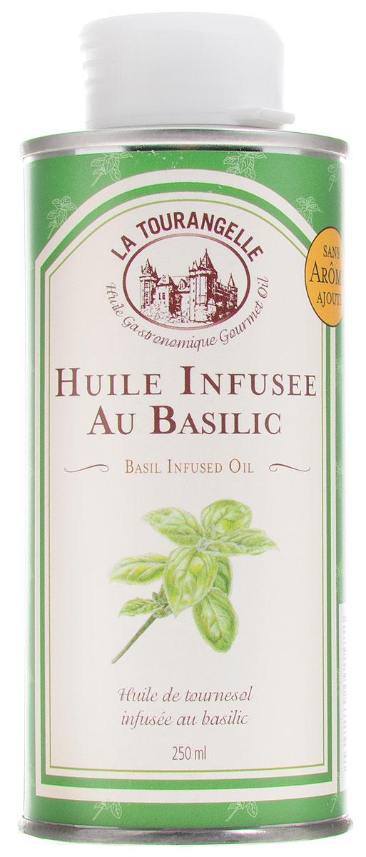 La Tourangelle Basil Infused Oil масло подсолнечное с экстрактом базилика, 250 мл la tourangelle sesame virgin oil масло кунжутное нерафинированное 250 мл