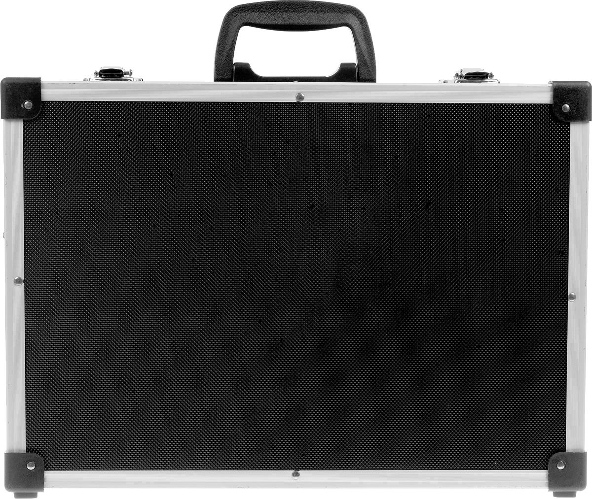 Ящик для инструментов алюминиевый FIT, цвет: черный, 43 х 31 х 13 см цена и фото