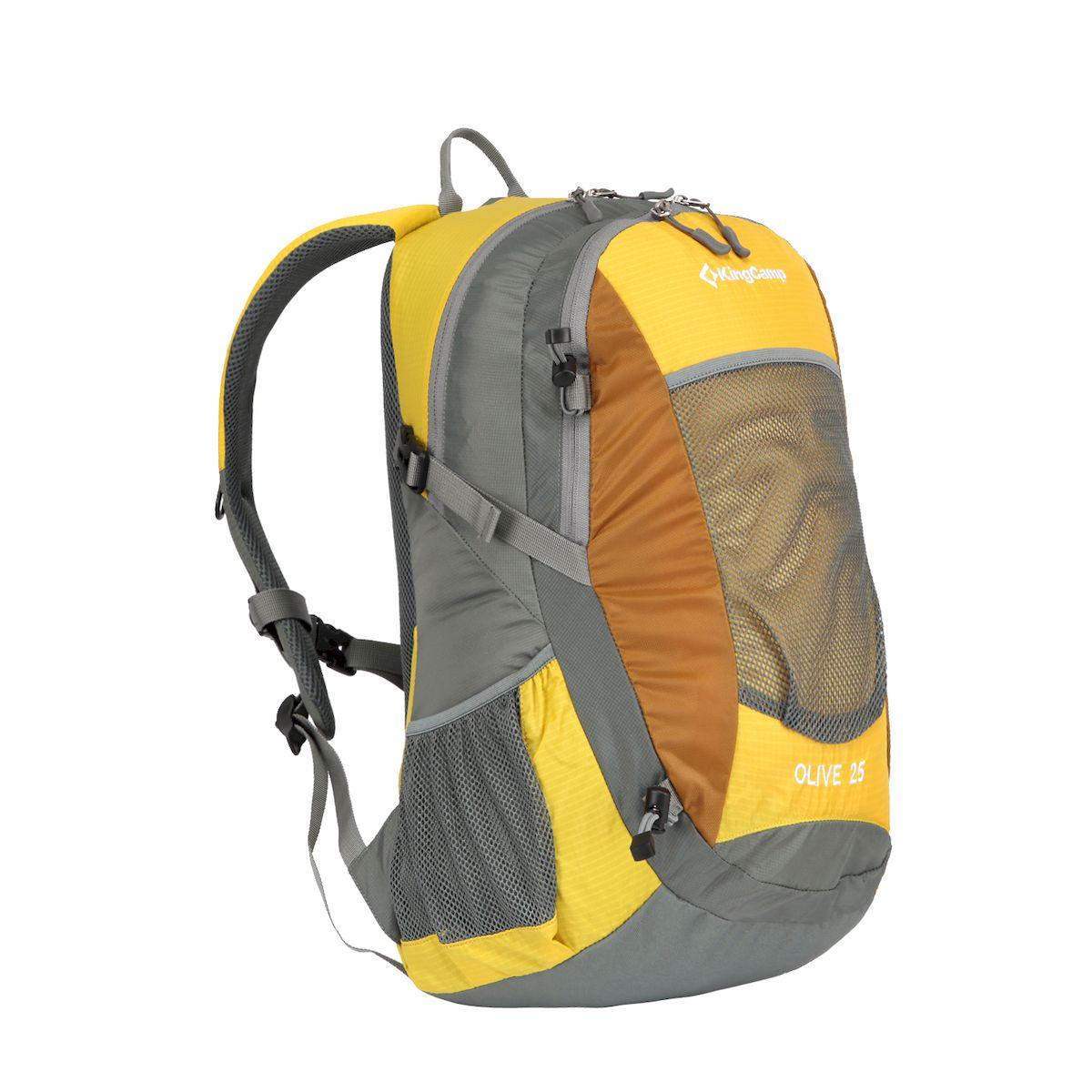 Рюкзак городской KingCamp OLIVE, цвет желтый. 25л рюкзак городской kingcamp peach 28l цвет красный серый