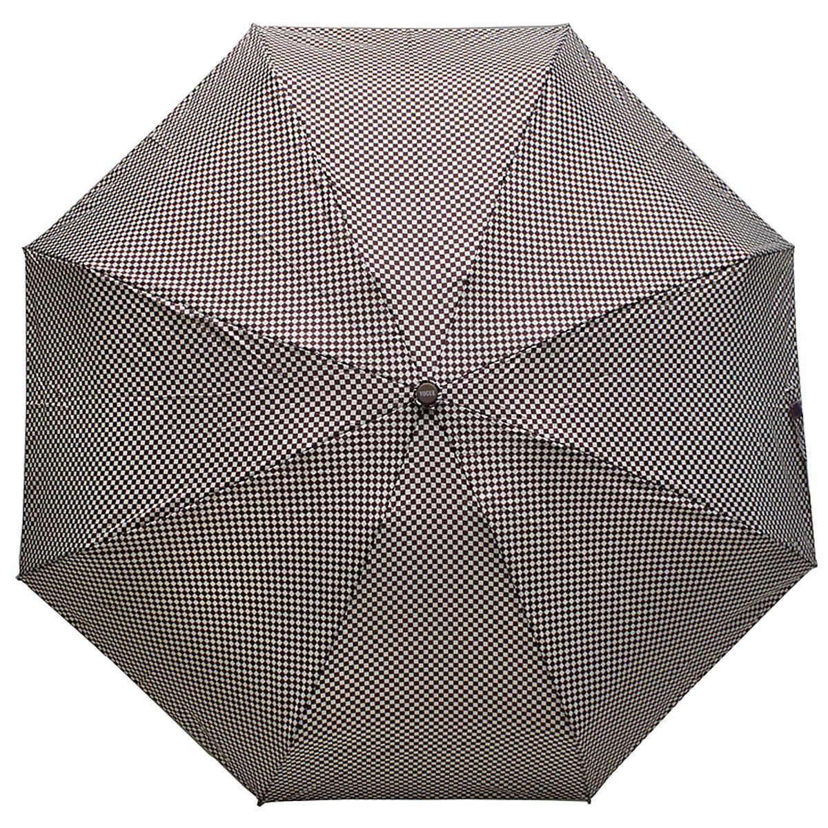Зонт женский Vogue, цвет: коричневый, белый. 345V-3 цена и фото