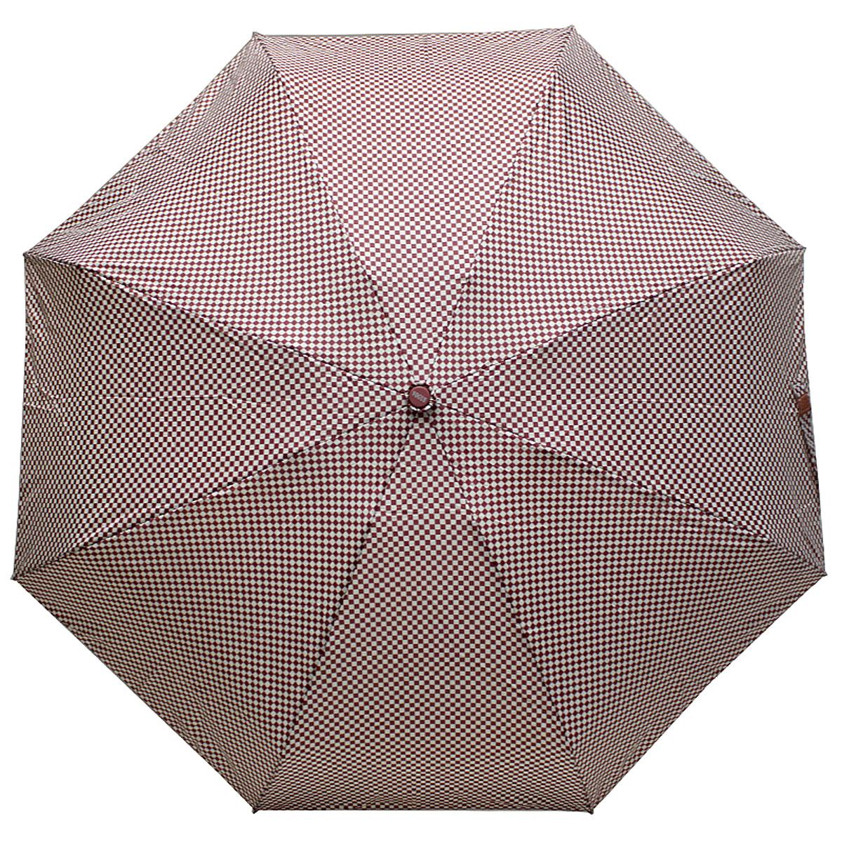 Зонт женский Vogue, цвет: бордовый, белый. 345V-4 цена и фото