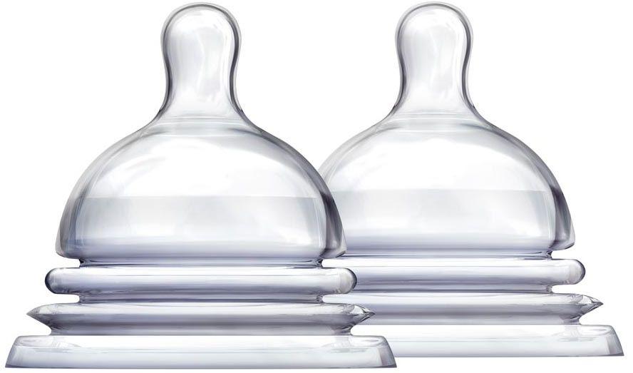 Munchkin Соска силиконовая от 6 месяцев 2 шт11786Соска силиконовая для бутылочки Munchkin Latch 3+ - особое гибкое основание соски, напоминающее гармошку, позволяет держать бутылочку под углом, при этом ребенок комфортно себя чувствует во время кормления даже при смене положения тела. Широкое основание и форма соски обеспечивает правильный захват соски ребенком, что препятствует заглатыванию воздуха и снижает вероятность возникновения коликов. Соски размера 2 и 3 (3+ мес. и 6+ мес.) позволяют постепенно увеличить поток по мере роста малыша - соска обеспечивает максимально естественное кормление, приближенное к грудному. Подходят для мытья в верхней части посудомоечной машины. В комплекте 2 штуки.