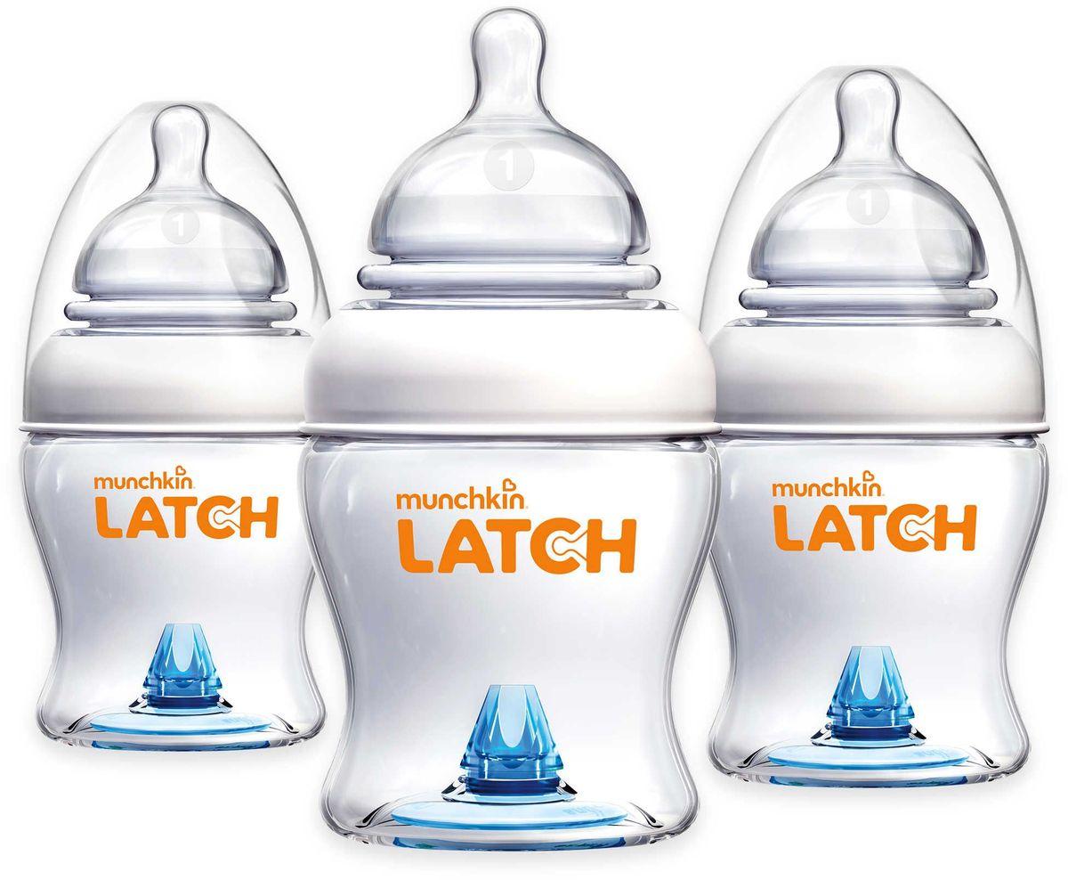 Munchkin Бутылочки для кормления от 0 месяцев 120 мл 3 шт + соска бутылочка для кормления munchkin latch 120 мл 2 шт 0 11620 011618