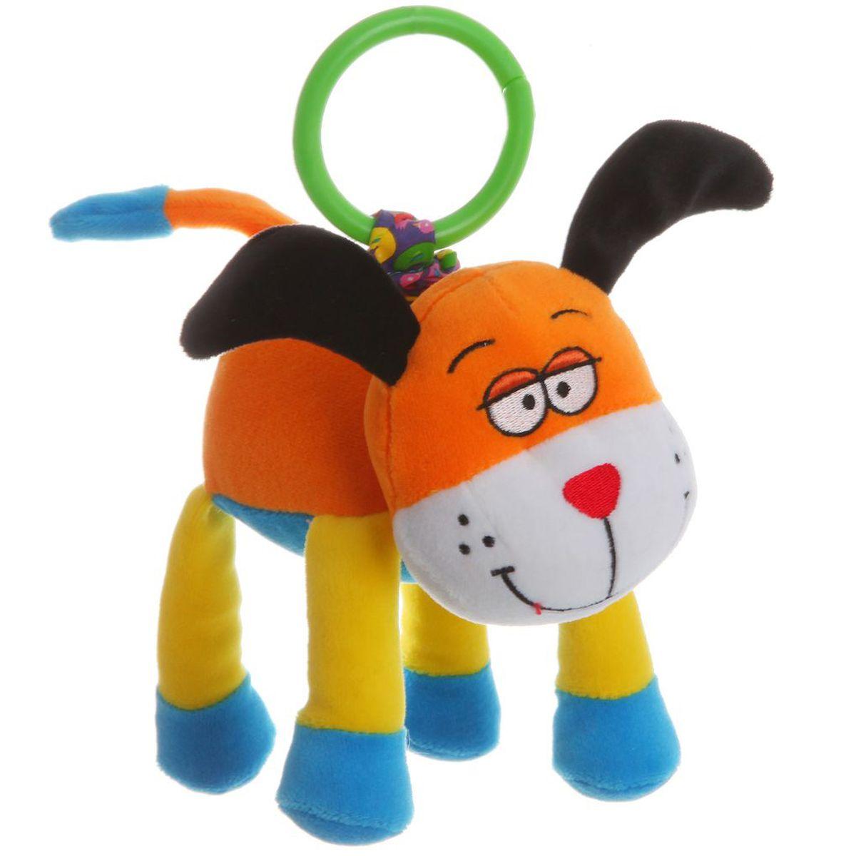 Bondibon Мягкая развивающая игрушка-растяжка Собака bondibon развивающая игрушка bondibon собачка с будкой