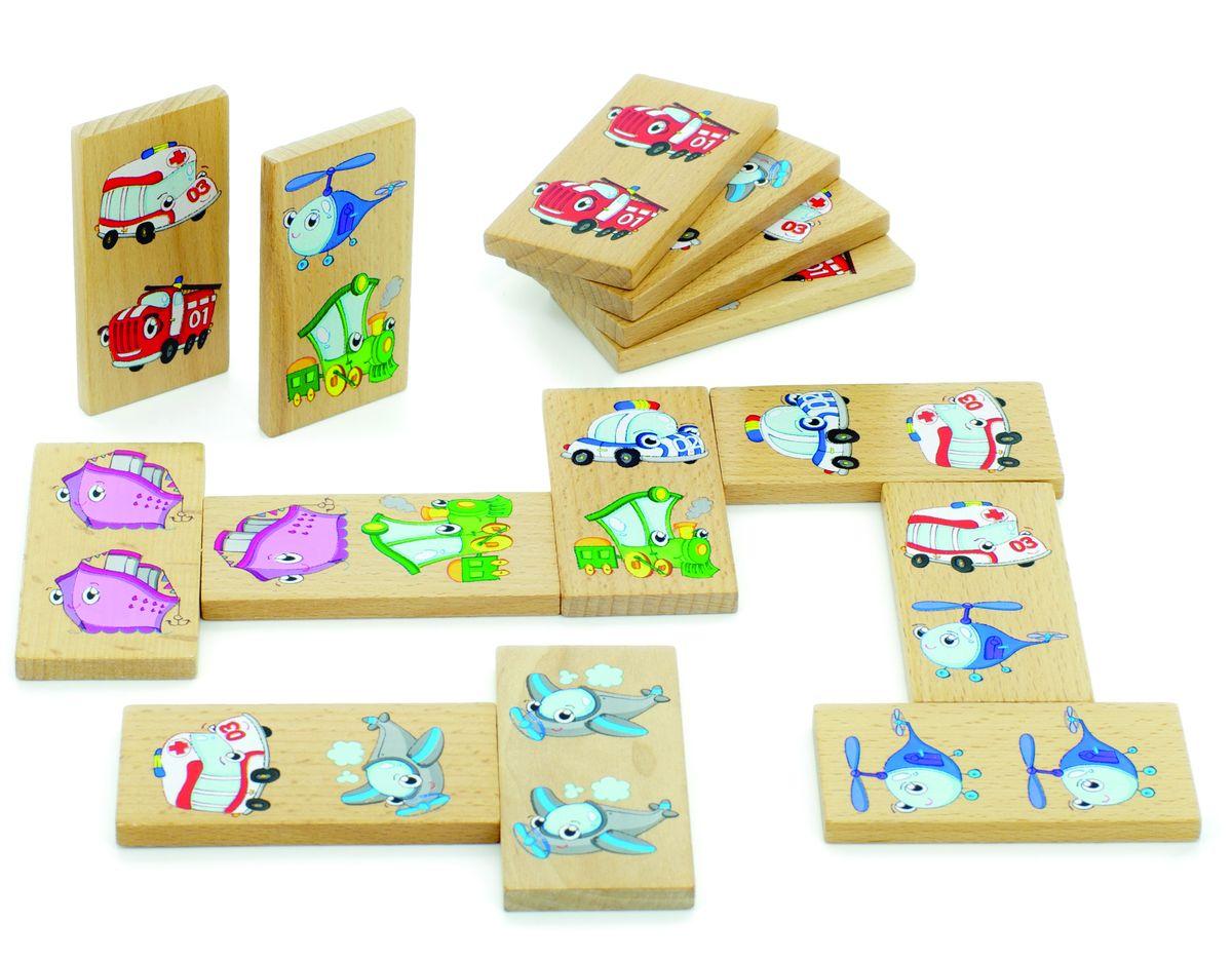 цена на Мир деревянных игрушек Обучающая игра Домино Транспорт
