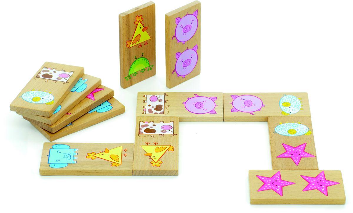 цена на Мир деревянных игрушек Обучающая игра Домино Фигуры