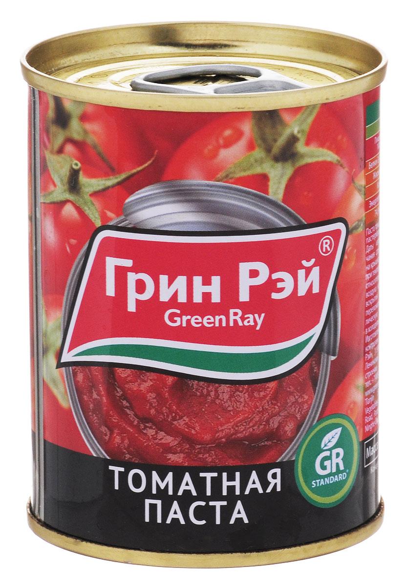 Green Ray паста томатная 25-28% пастеризованная, 140 г тони моли томатная