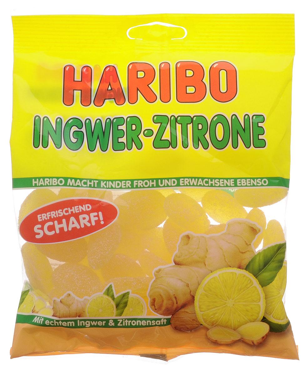 Haribo Имбирный лимон мармелад жевательный, 175 г победа вкуса шмелькино брюшко микс жевательный мармелад 250 г