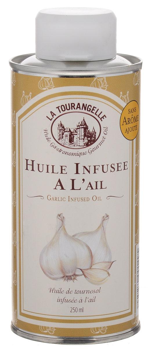 La Tourangelle Garlic Infused Oil масло подсолнечное с экстрактом чеснока, 250 мл la tourangelle sesame virgin oil масло кунжутное нерафинированное 250 мл