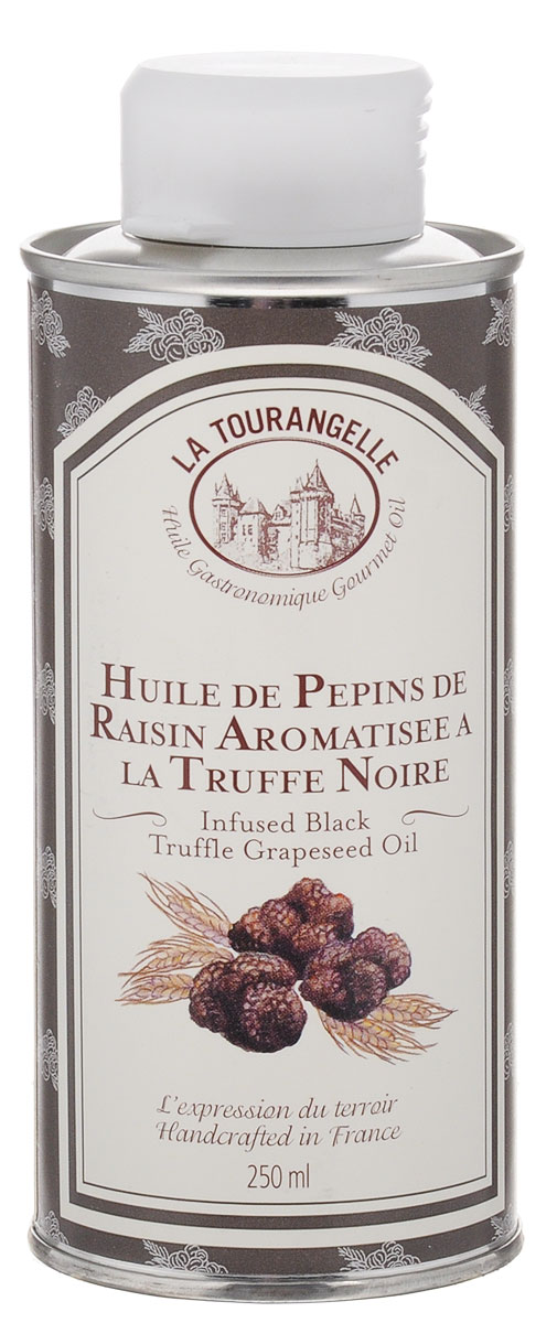 La Tourangelle Black Truffle Flavoured Grapeseed Oil масло виноградных косточек, ароматизированное черным трюфелем, 250 мл algologie масло массажное на основе виноградных косточек 500мл