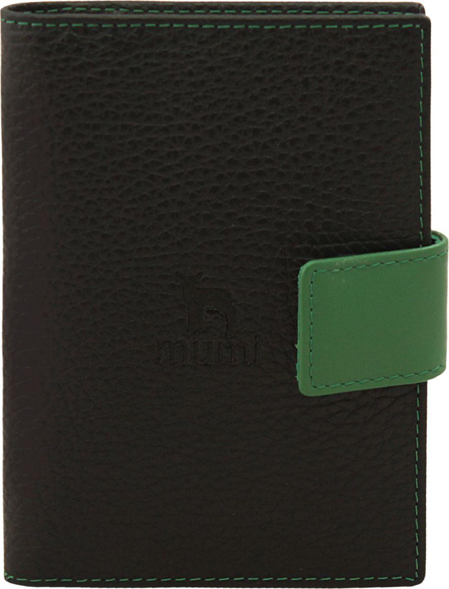 Бумажник водителя Dimanche Mumi, цвет: черный, зеленый. 454 montagut montagut женщин бумажник крокодиловой кожи бумажник ударил цвет большой емкости г жа сцепления r2312880921 синий