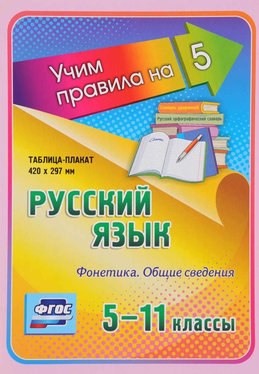 Русский язык. 5-11 классы. Фонетика. Общие сведения. Таблица-плакат