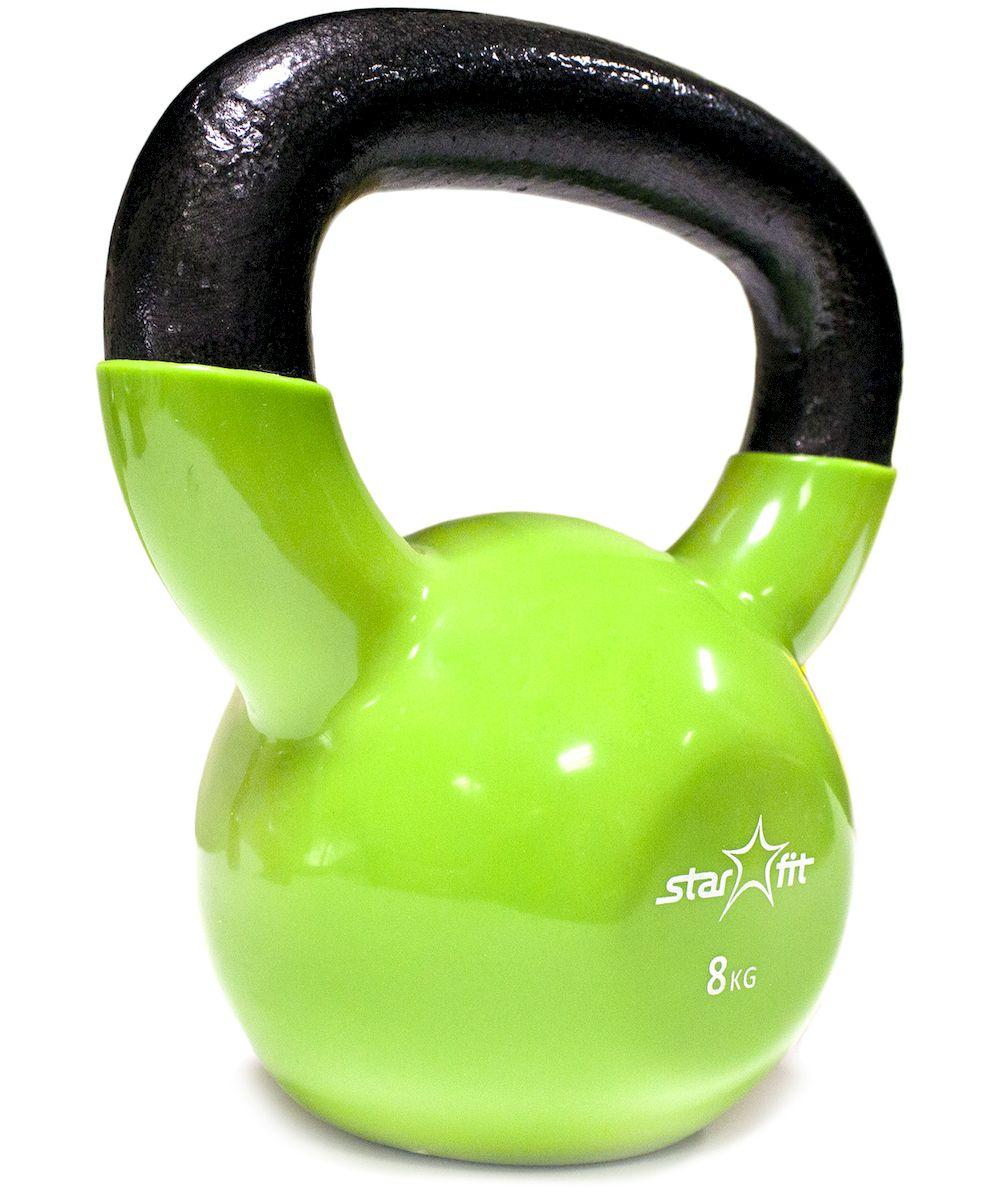 Гиря виниловая DB-401, зеленая, 8 кг гиря titan 8 кг