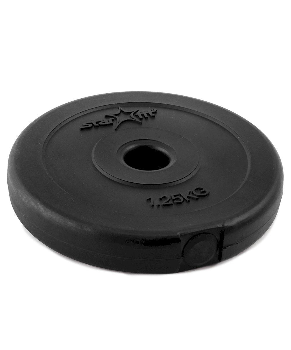 Диск пластиковый Starfit BB-203, посадочный диаметр 26 мм, 1,25 кг диск пластиковый starfit bb 203 посадочный диаметр 26 мм 0 5 кг