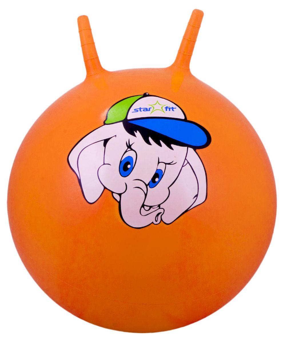 Мяч-попрыгун Starfit GB-401. Слоненок, с рожками, цвет: оранжевый, диаметр 45 см цена