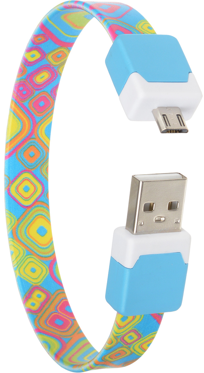 DVTech CB135 multicolor, Light Blue кабель USB-micro USB 2.0 25 см