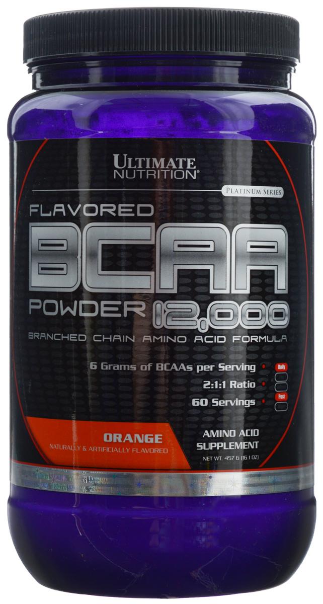 """Аминокислоты Ultimate Nutrition """"BCAA 12,000"""", апельсин, 457 г"""