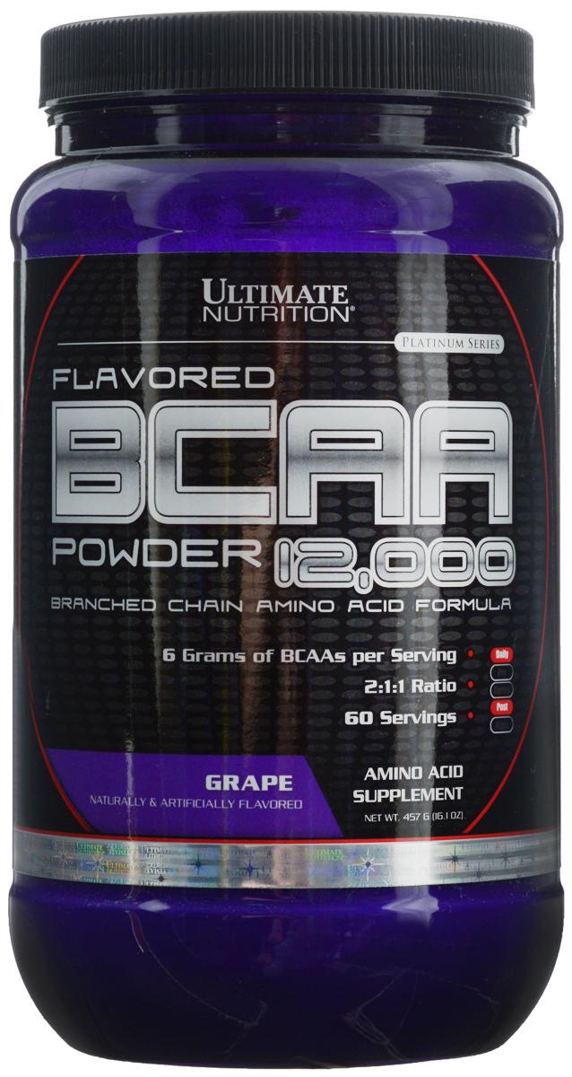 Аминокислоты Ultimate Nutrition BCAA 12,000, виноград, 457 г athletic nutrition bcaa 300 г