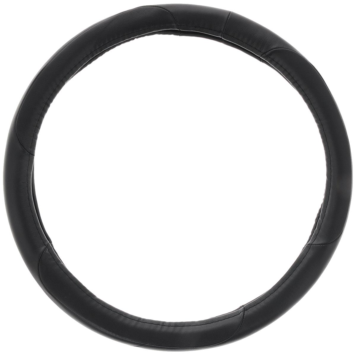 """Оплетка на руль """"Azard"""", цвет: черный, диаметр 38 см. Размер М"""