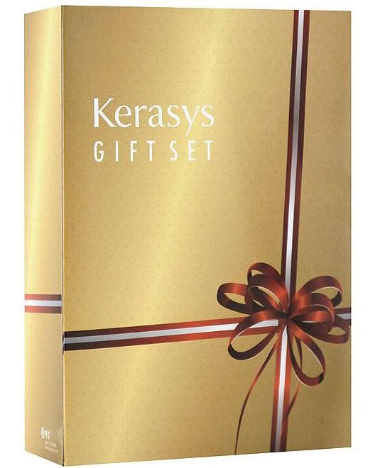 KeraSys Подарочный набор для волос Salon Care. Питание: шампунь, кондиционер, мыло, 2 шт