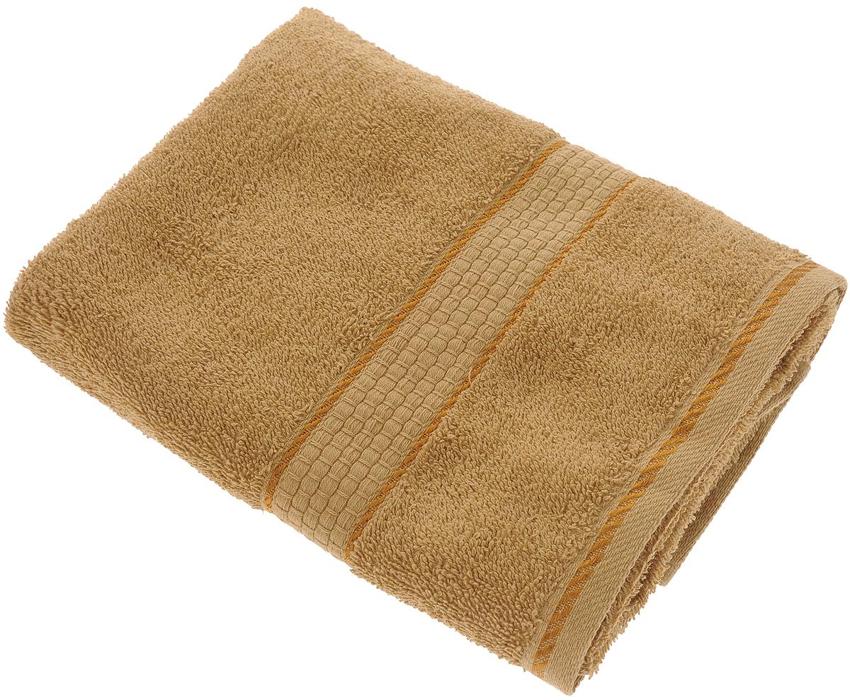 """Полотенце махровое Aisha Home Textile """"Соты"""", цвет: коричневый, 50 х 90 см"""